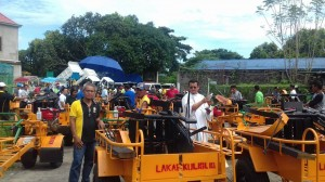 Distribution and Blessing of 24 units Hand Tractors for each barangay, 12 units of Grass Cutters and 2 Units of Mini Dump Trucks (1)
