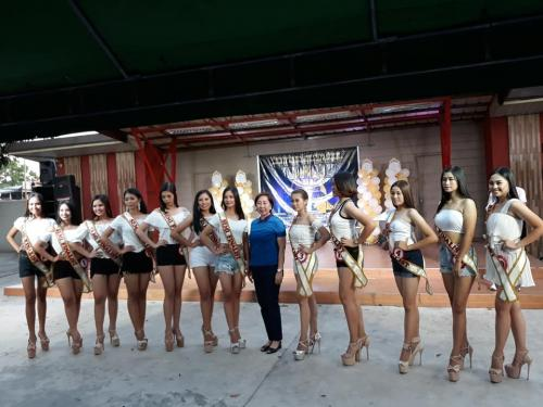 Presentation and Selection of Semifinalists for MISS SANTA IGNACIA 2019 at Centennial Park.
